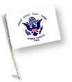 COAST GUARD Car Flag with Pole