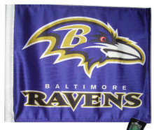 BALTIMORE RAVENS Flag with 11in.x15in. Flag Variety