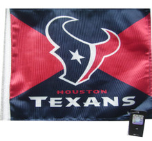 HOUSTON TEXANS Flag with 11in.x15in. Flag Variety
