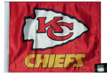 KANSAS CITY CHIEFS Flag - Approx. Size 11in.x15in.
