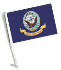 NAVY Car Flag with Pole