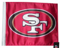 SAN FRANCISCO 49ERS Flag with 11in.x15in. Flag Variety