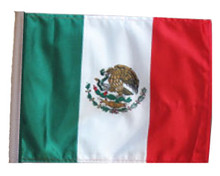 SSP Flags Mexico Motorcycle Flag with Sissybar Pole or Trunk Pole
