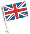 UNION JACK Car Flag with Pole, BRITISH Car Flag with Pole