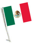 MEXICO Car Flag with Pole