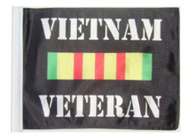 Vietnam Veteran 11in x15 Replacement Flag for Motorcycle, Golf Cart and Car flag poles