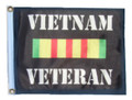 VIETNAM VETERAN 11in X 15in Flag with GROMMETS