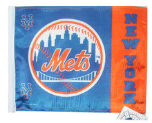 NEW YORK METS Flag with 11in.x15in. Flag Variety