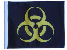 BIOHAZARD YELLOW Motorcycle Flag with Sissy or Trunk Style Pole SSP Flags