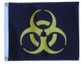 BIOHAZARD YELLOW 11in X 15in Flag with GROMMETS