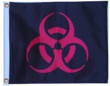 BIOHAZARD RED 11in X 15in Flag with GROMMETS, SSP Flags