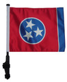 SSP Flags STATE of TENNESSEE Golf Cart Flag with SSP Flags Bracket and Pole