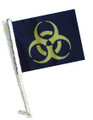 BIOHAZARD YELLOW Car Flag and Pole