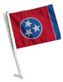 TENNESSEE Car Flag and Pole