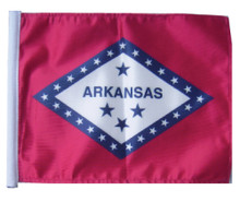Arkansas 11in x15 Replacement Flag for Motorcycle, Golf Cart and Car flag poles