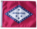 STATE OF ARKANSAS 11in X 15in Flag with GROMMETS