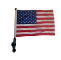 "SSP Flags USA, United States, American, 11""x15"" Flag with Pole and EZ On Extended Straps Bracket"