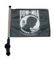 "SSP Flags POW MIA 11""x15"" Flag with Pole and EZ On Extended Straps Bracket"