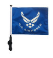 "SSP Flags LICENSED US AIR FORCE 11""x15"" Flag with Pole and EZ On Extended Straps Bracket"