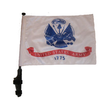 "SSP Flags ARMY 11""x15"" Flag with Pole and EZ On Extended Straps Bracket"