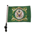 "SSP Flags RETIRED ARMY 11""x15"" Flag with Pole and EZ On Extended Straps Bracket"