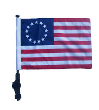 "SSP Flags BETSY ROSS 11""x15"" Flag with Pole and EZ On Extended Straps Bracket"
