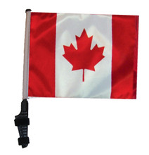 "SSP Flags CANADA 11""x15"" Flag with Pole and EZ On Extended Straps Bracket"