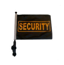 "SSP Flags SECURITY 11""x15"" Flag with Pole and EZ On Extended Straps Bracket"