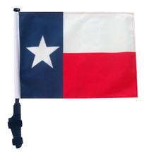 """SSP Flags STATE of TEXAS 11""""x15"""" Flag with Pole and EZ On Extended Straps Bracket"""