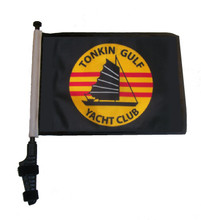 "SSP Flags TONKIN GULF YACHT CLUB 11""x15"" Flag with Pole and EZ On Extended Straps Bracket"