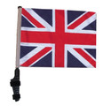 "SSP Flags UNION JACK / BRITISH 11""x15"" Flag with Pole and EZ On Extended Straps Bracket"