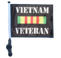 "SSP Flags VIETNAN VETERAN 11""x15"" Flag with Pole and EZ On Extended Straps Bracket"