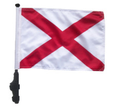"SSP Flags STATE of ALABAMA 11""x15"" Flag with Pole and EZ On Extended Straps Bracket"
