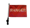 "SSP Flags RANGER 11""x15"" Flag with Pole and EZ On Extended Straps Bracket"