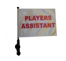 "SSP Flags PLAYERS ASSISTANT 11""x15"" Flag with Pole and EZ On Extended Straps Bracket"