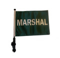 "SSP Flags MARSHAL 11""x15"" Flag with Pole and EZ On Extended Straps Bracket"