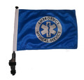 "SSP Flags EMS 11""x15"" Flag with Pole and EZ On Extended Straps Bracket"