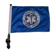 """SSP Flags EMS 11""""x15"""" Flag with Pole and EZ On Extended Straps Bracket"""