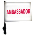 "SSP Flags AMBASSADOR 11""x15"" Flag with Pole and EZ On Extended Straps Bracket"