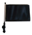 "SSP Flags BLACK 11""x15"" Flag with Pole and EZ On Extended Straps Bracket"