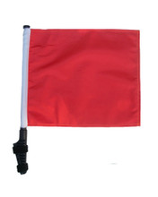 "SSP Flags ORANGE 11""x15"" Flag with Pole and EZ On Extended Straps Bracket  (Not safety the Orange)"