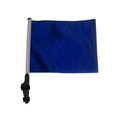 "SSP Flags BLUE 11""x15"" Flag with Pole and EZ On Extended Straps Bracket"