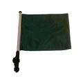 "SSP Flags GREEN 11""x15"" Flag with Pole and EZ On Extended Straps Bracket"