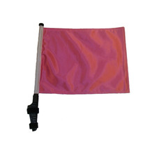 "SSP Flags PINK 11""x15"" Flag with Pole and EZ On Extended Straps Bracket"