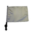 "SSP Flags WHITE 11""x15"" Flag with Pole and EZ On Extended Straps Bracket"