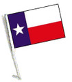 TEXAS Car Flag with Pole