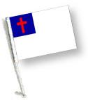 CHRISTIAN Car Flag with Pole