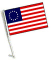 BETSY ROSS Car Flag with Pole