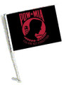 RED POW MIA Car Flag with Pole