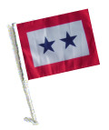 TWO BLUE STAR Car Flag with Pole